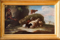 Shepherd resting in the midday sunlight —  Neapolitan painting, 18th century