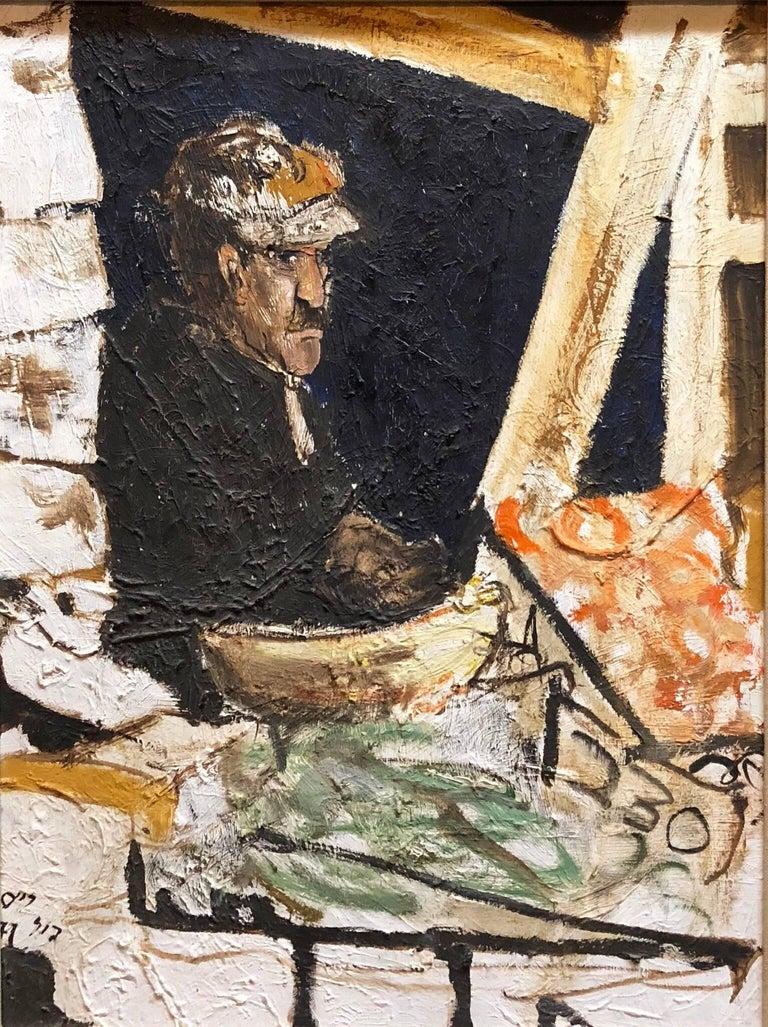 Shuk Machane Yehuda Jerusalem Market Israeli Oil Painting