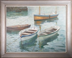 Signed & Framed Mid 20th Century Oil - Quiet Harbour