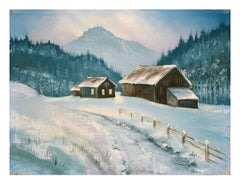 Snowy Farm - Winter Landscape
