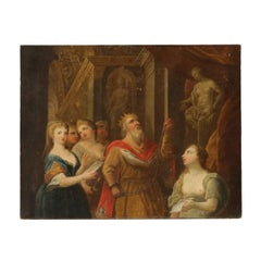 Solomon Offers the Incense to the Pagan Gods Oil on Canvas 18th Century