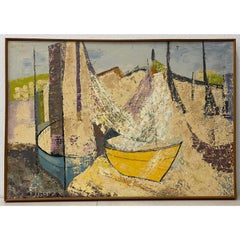 """Spanish Coast"" Original Painting by JA Ramon c.1964"