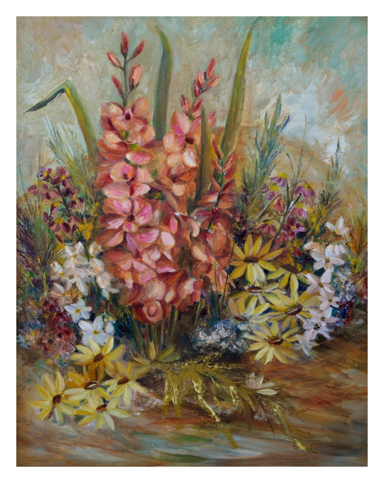Spring Garden Flowers Still-Life  - Painting by Unknown