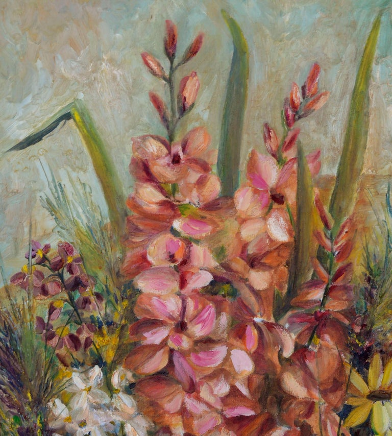Spring Garden Flowers Still-Life  - American Impressionist Painting by Unknown