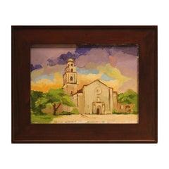 """St. Anne's Westheimer"" Impressionist Landscape Painting Signed Dana"