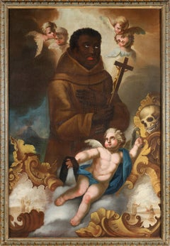 St. Benedict the moor, Old Master, Italy,  Patron Saint of African American