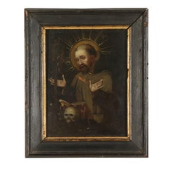 St. Francis Worshiping the Crucifix Oil on Copper Late 1500s