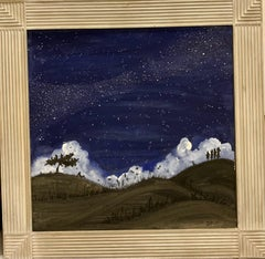 """Starry Night"" Star,Blue,Black,Night,Sky  cm. 58 x 58"