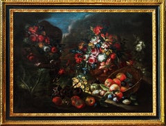 """Still Life, Fruits and Flowers"" — Italian Painting"