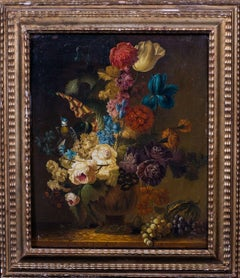 Still Life Of Flowers, Grapes and a Melon, 17th Century