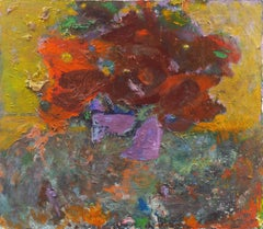 'Still Life of Poppies', Mid-century, American School Expressionist Floral Oil