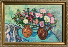 Still Life With Bouquets (Ukrainian, signed)
