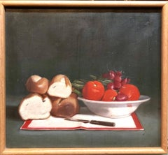 Still Life with Bread and Vegetables Oil Painting