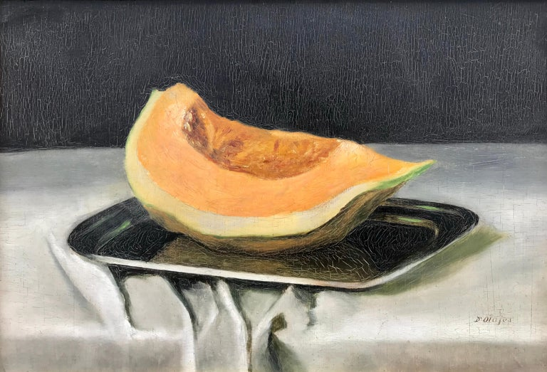 """Still life with Cantaloupe"" - Painting by Unknown"