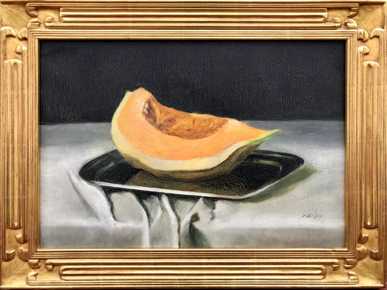 "Unknown Still-Life Painting - ""Still life with Cantaloupe"""