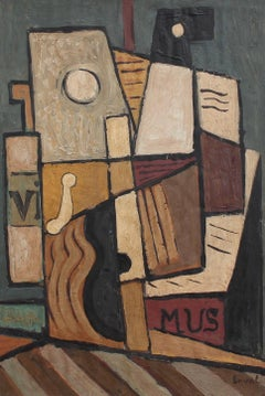 'Still Life with Guitar, Carafe and Sheet Music' by Laval