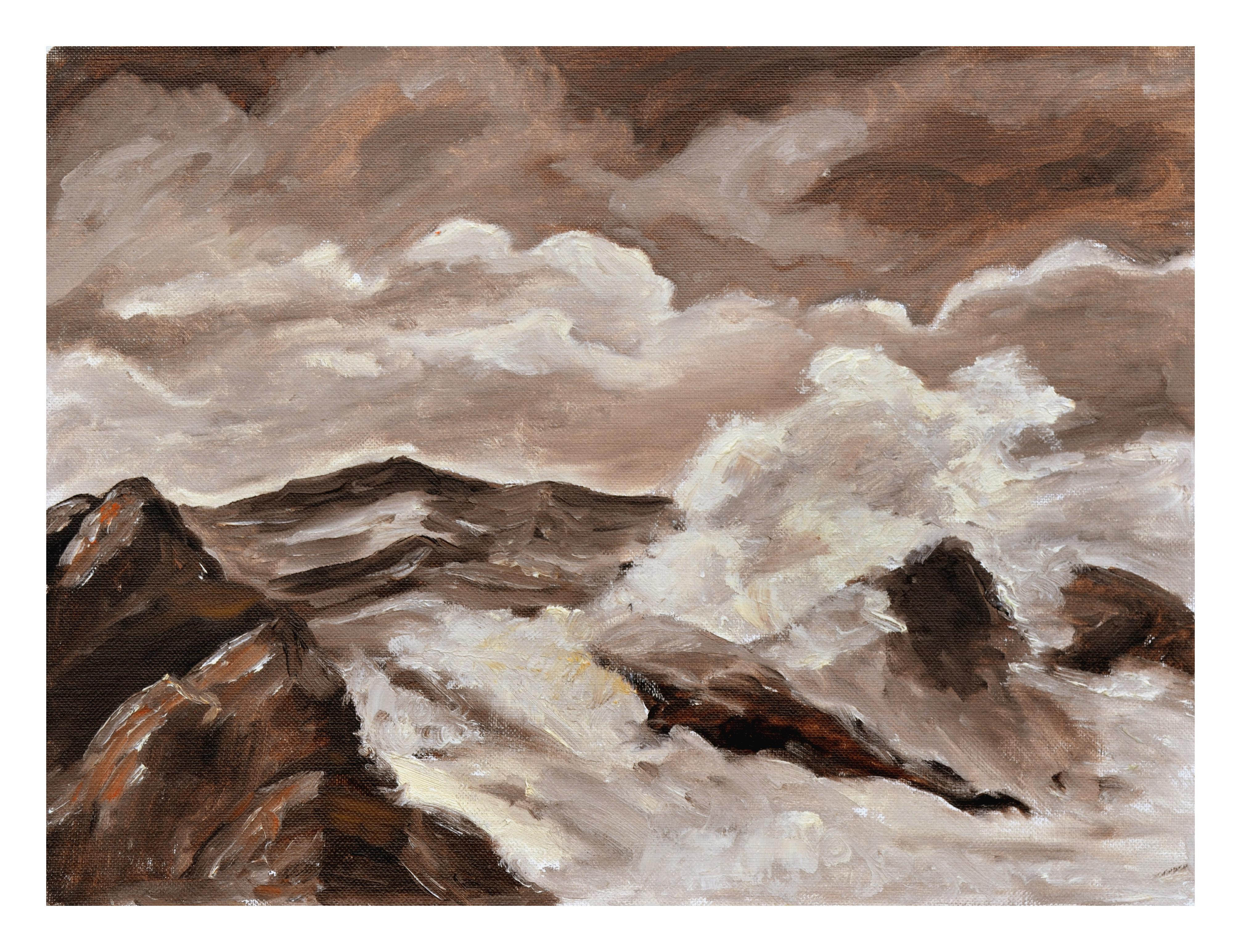 Stormy Seas - Mid Century Seascape
