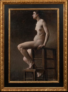 Study Of A Nude Woman Seated, 19th century