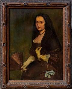 Study of Diego Valasquez's Lady with a Fan Portrait
