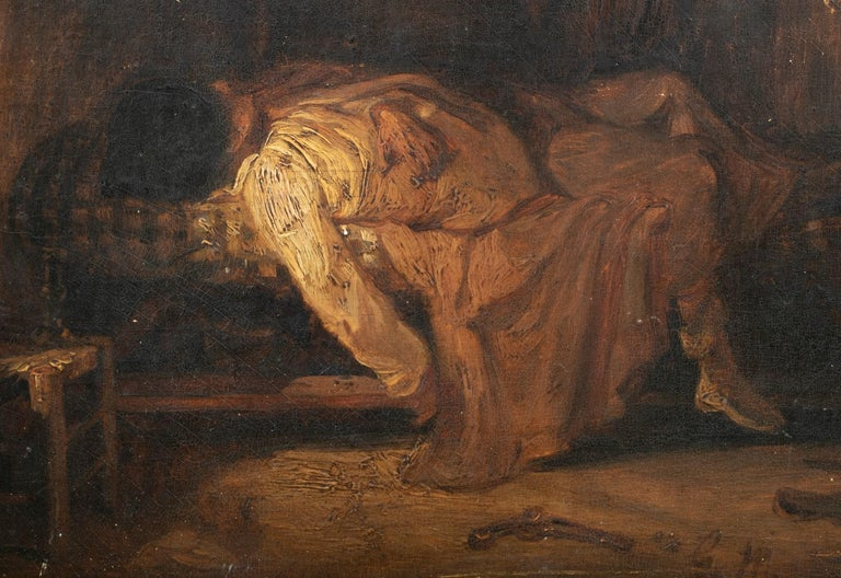 Suicide, 19th Century  - Painting by Unknown