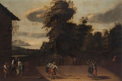 Summer Allegory - Oil on Canvas by Flemish Artist 17th Century