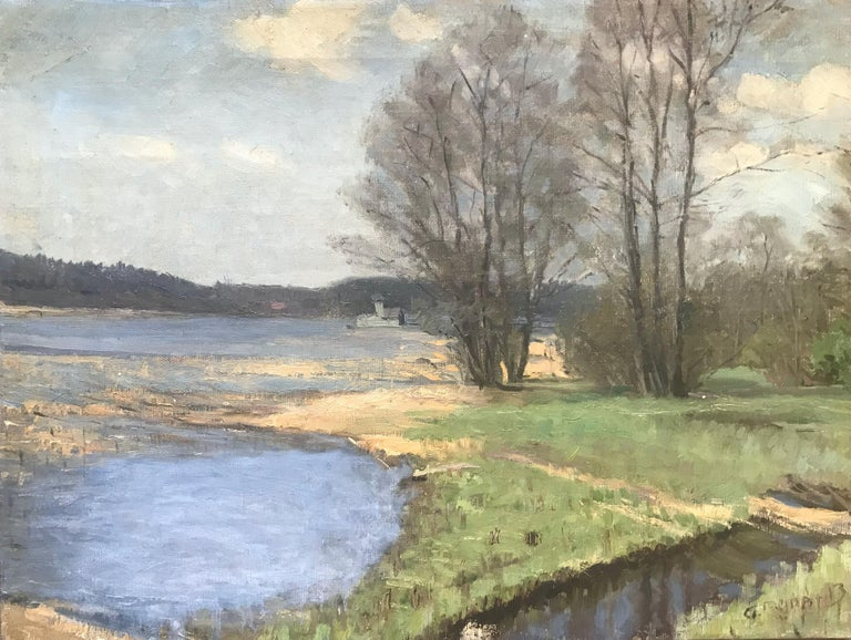 Unknown Landscape Painting - Summer Pond