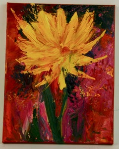 Sunflower Expressionist Painting