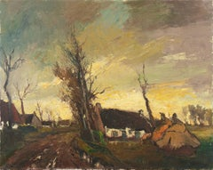 Sunlit Rural Landscape