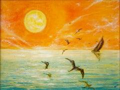 Sunrise - Original Tempera on Canvas - 1994