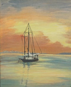 Sunset in Monterey Bay Landscape