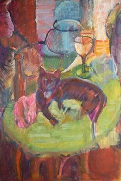 Susan Paine - 20th Century Oil, Black Cat