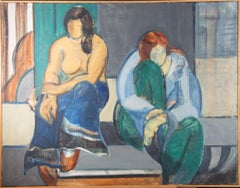 Susan Paine - 20th Century Oil, Two Women, Seated