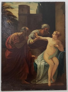 "Mid 19th Century ""Susanna And The Elders"" After The Old Master by Martinelli"