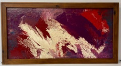 Ted Naos Mid Century Modern Acrylic Pour Painting c.1962