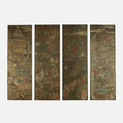 Tempera on Paper Panels China, end 18th century for Europe