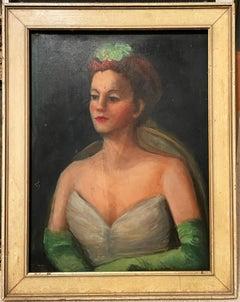 Tennessee Portrait Oil Painting of M. Crichlow, Murfreesboro, TN