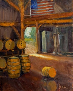 Tennessee Whiskey, Plein Air Original Fine Art Oil on Linen Board