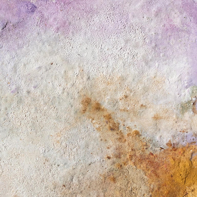 Terra Bruciata (Scorched Earth) #57 - Small abstract purple and blue painting For Sale 3