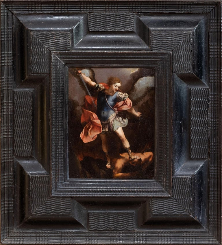 Unknown Figurative Painting - The Archangel Michael Defeating Satan