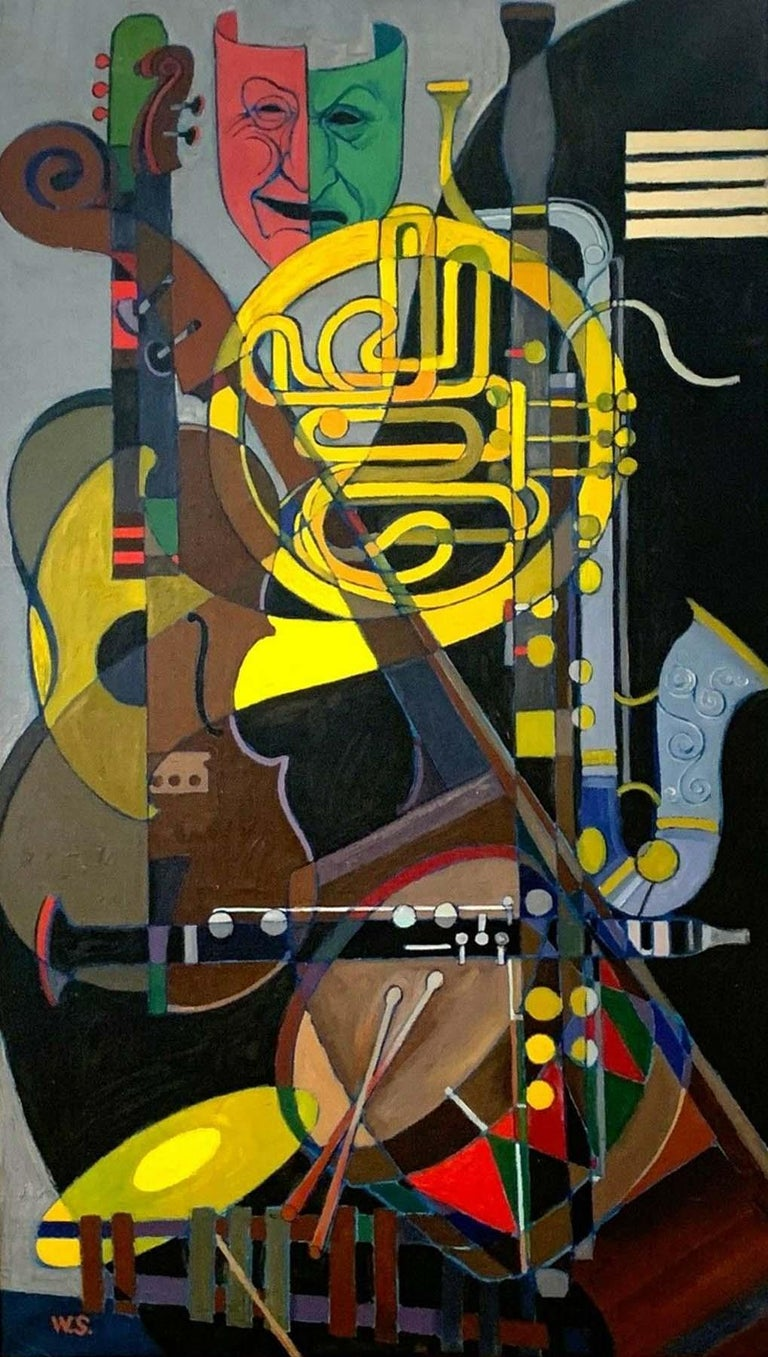 Unknown Figurative Painting - The Band