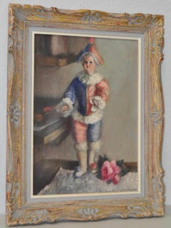 The Doll and the Rose Still Life Oil Painting c.1930