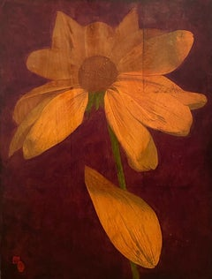 """""""The Flower"""" Oil on Board"""