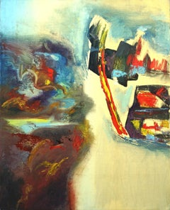 The Golden Gate Bridge and Coastal Highway Abstract Expressionist