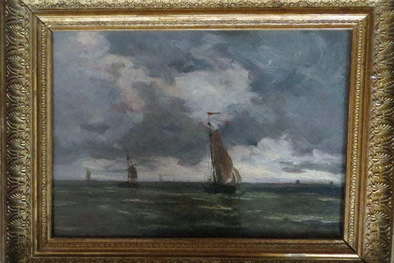 The Harbor of Trouville  - Painting by Unknown