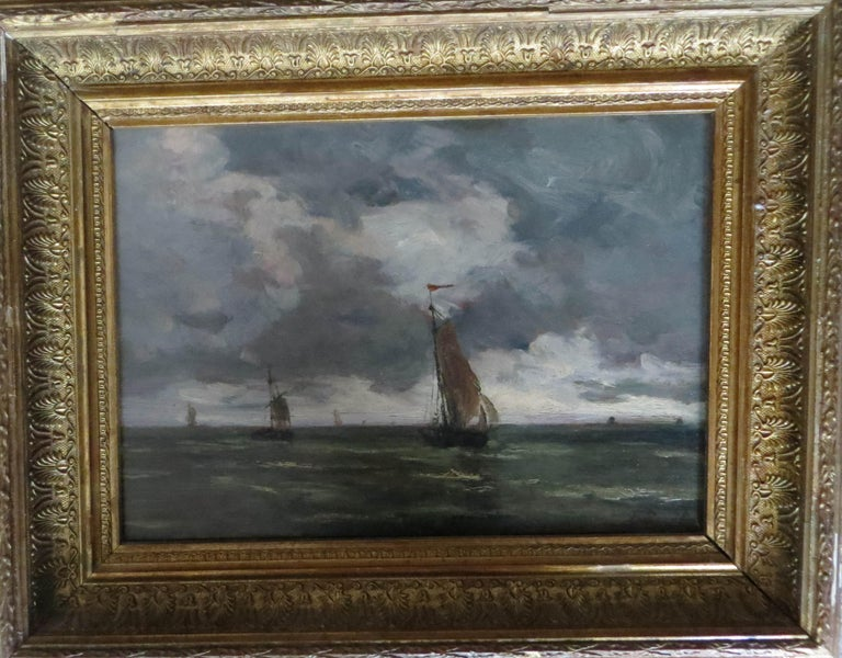 The Harbor of Trouville  - Impressionist Painting by Unknown