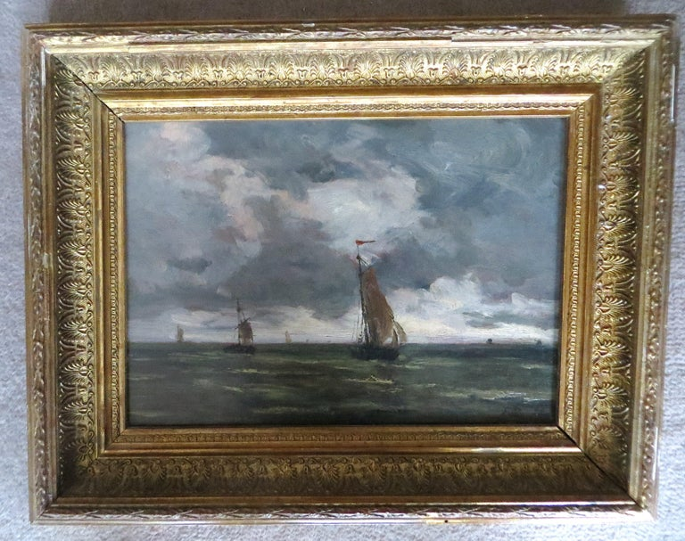 Unknown Landscape Painting - The Harbor of Trouville