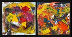 """""""The Harvest"""" Diptych oil on board by Steven"""
