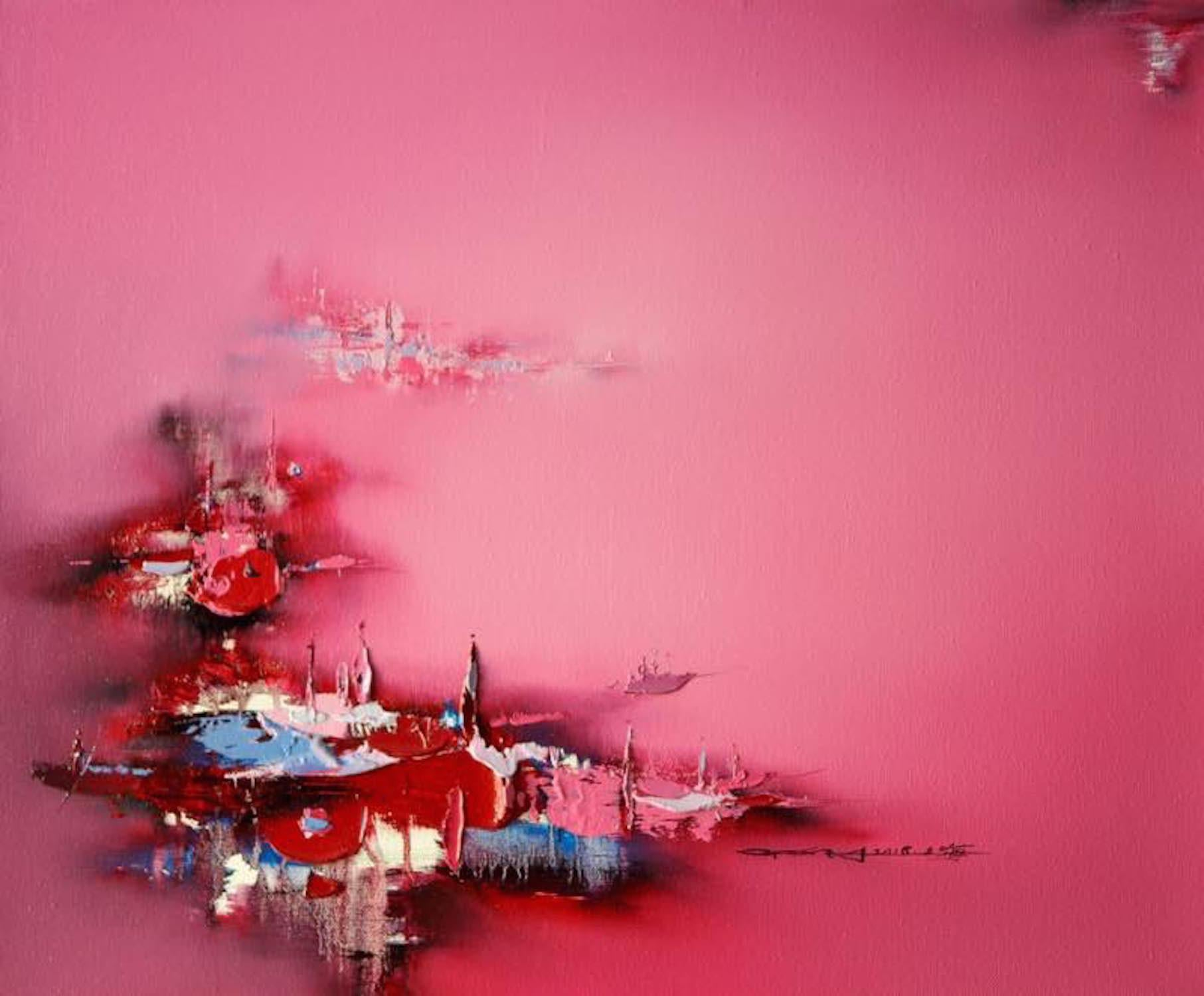 """""""The Lantern Day"""", Red pinkish. serenity and peaceful"""