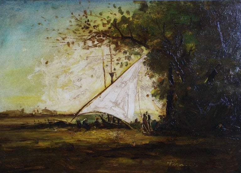 The Mooring - Painting by Unknown