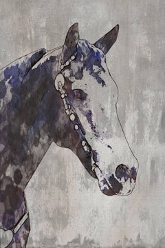 The Morgan Horse 2, Farmhouse Fine Art Hand Embellished Giclee on Canvas